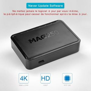 BOX MULTIMEDIA MAG 250 IPTV Haute définition Set Top Box Support