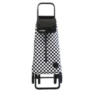 CHARIOT DE MARCHÉ Poussette de marché 4 roues avec sac en tissu à ca