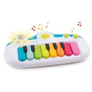 TAPIS ÉVEIL - AIRE BÉBÉ SMOBY Cotoons - Piano Electronique - 8 Mélodies