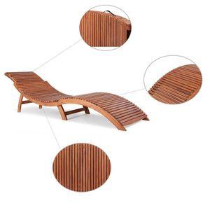CHAISE LONGUE Stillcool® Chaise longue Bois d'acacia Banc Jardin