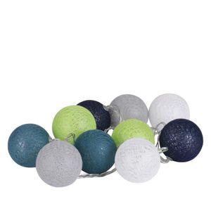 VILLAGE - MANÈGE Guirlande lumineuse 10 boules Fresh - Diam. 6 cm -