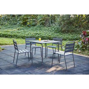 Ensemble table et chaise de jardin Ensemble repas de jardin - table de jardin 90 cm e