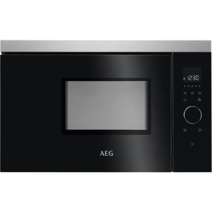 AEG MBB1756SEM, Intégré, Micro-ondes uniquement, 17 L, 800 W, Tactil, Noir, Acier inoxydable
