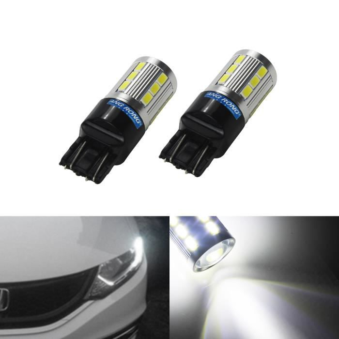 2x Ampoules 21 SMD LED T20 W21W 7440 7443 W21/5W Blanc Feux De Jour Clignotant Lampe DRL