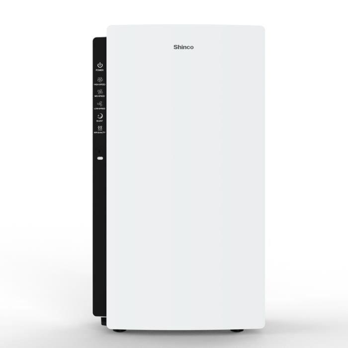 Shinco Purificateur d'air accueil avec filtre HEPA, générateur de plasma, moniteur de qualité de l'air,Chambre jusqu'à 50㎡