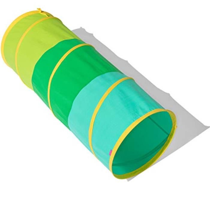 Jeu D'Adresse LJSY0 Le Tunnel Play Organic Cotton par - Pop-Up & Pliable Tunnel de jeu avec étui de transport en coton biologique, m