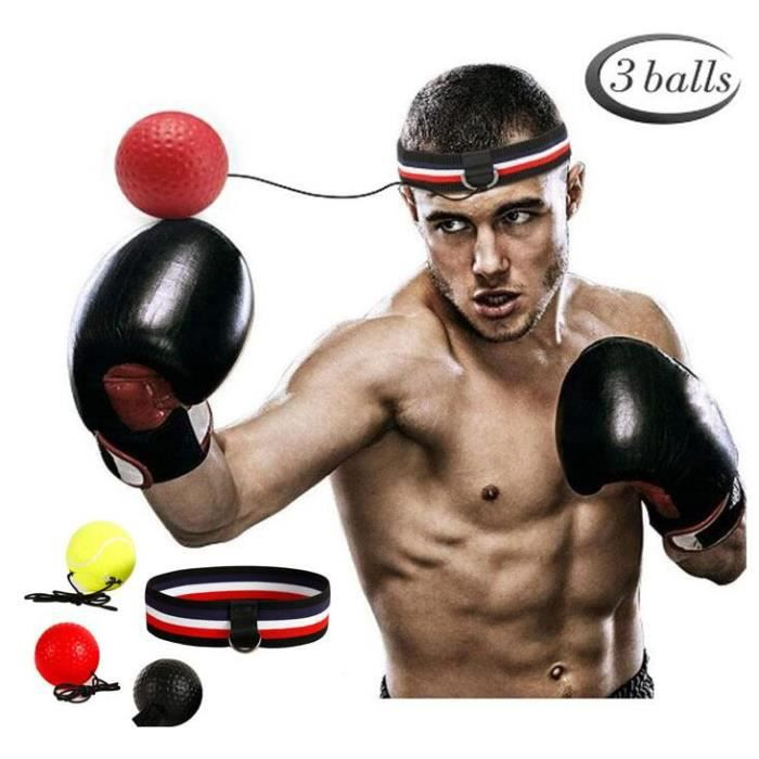 Boxe reflex speed boxe ball MMA Sanda boxer pour augmenter la réaction entraînement mains-yeux (tête stretch couleur portant +23 g b