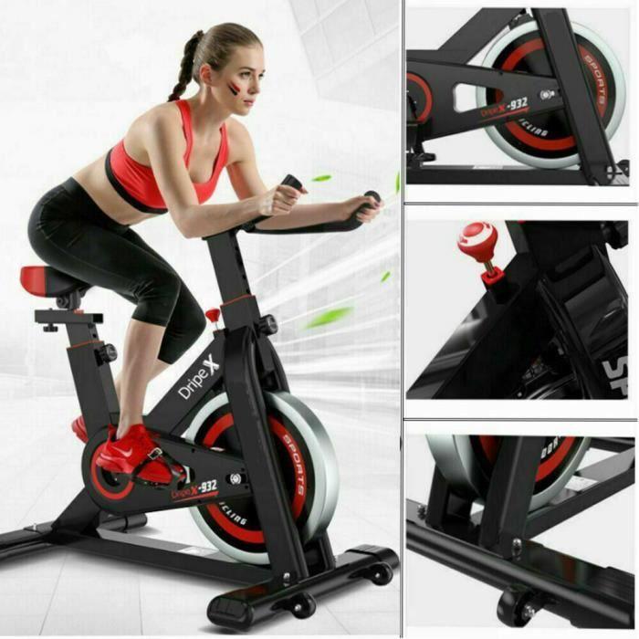 Dripex Vélo d'appartement Biking spinning d'Exercice d'Intérieur Cyclisme Vélo Stationnaire Maison Entraînement Gym Cardio