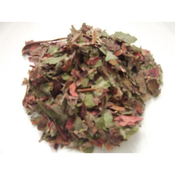 Vigne rouge biologique feuilles coupées les 30 gr
