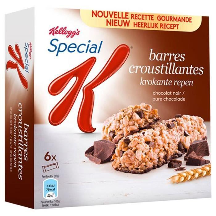 Special K Barre Céréales Chocolat Noir 129g (lot de 10 x 3 boîtes)
