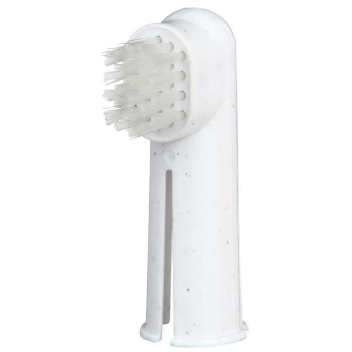 TRIXIE Set de brosse à dents chien/chat 6 cm 2 Pcs pour chien