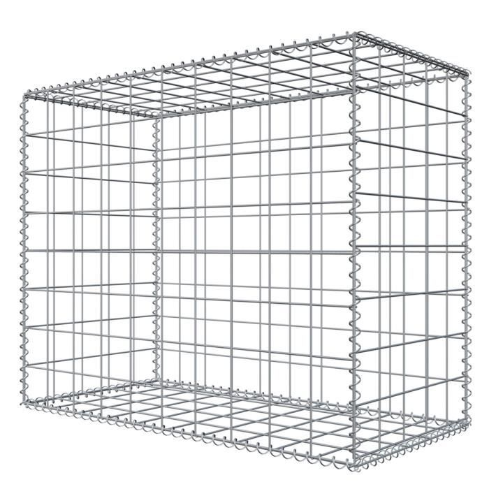 Niederberg Metall Gabion en pierre 100x80x50 MW 10x10 Cage métallique Déco Jardin