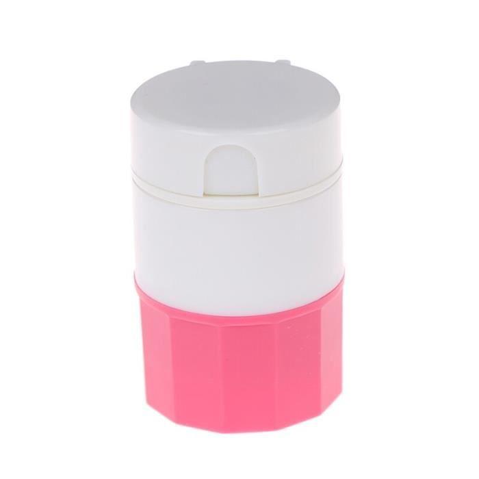Broyeur de comprimés de poudre 4 en 1, Portable 4 couches, coupe-pilule, boîte de séparation de médicaments, broyeur de [C396970]