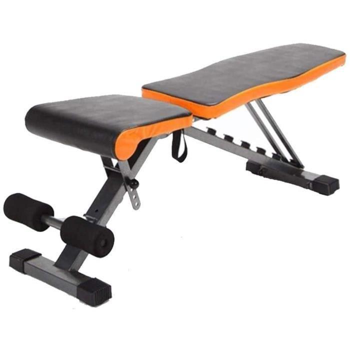 Banc d'haltères réglable avec angles - Banc d'exercice pliable - Banc de musculation multifonction - Idéal pour les muscles abd[247]