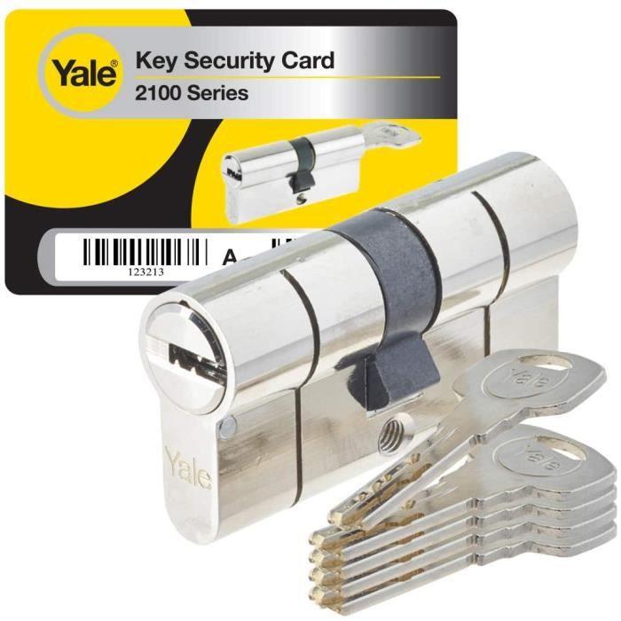 BARRE Yale YC2100 Cylindre de Serrure D&eacutebrayable 30x40 mm pour Porte Ext&eacuterieure-Entr&eacutee, 10 Goupilles, 5 Cl&69