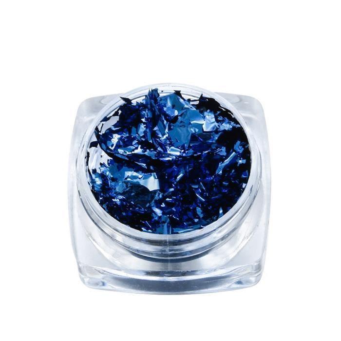 Moule,Résine de remplissage époxy cristal 3ml 1 boîte Fait à la main, Imitation or bleu poudre cassé, feuille or - Type Royal Foil