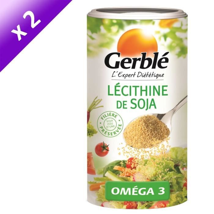 [LOT DE 2] GERBLE Lécithine de soja - 175 g