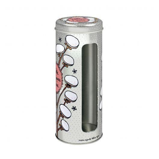 Boite à Cotons Démaquillants DISQUES DOUX En Métal - de Rangement pour Salle Bain Maquillage - Valérie Nylin DLP Derrière La Porte