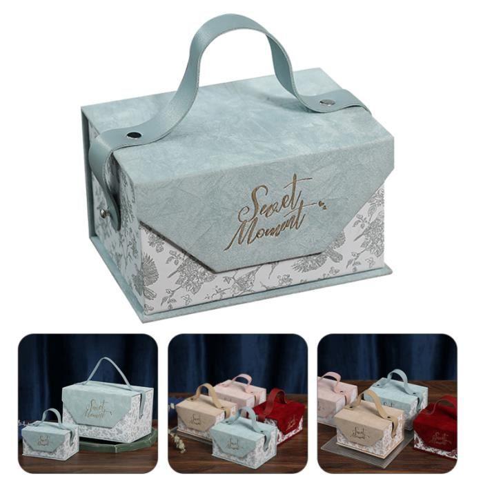 Boîte d'emballage cadeau de boîte de de mariage chic robuste 1p bonbons cremeux confiserie chocolat