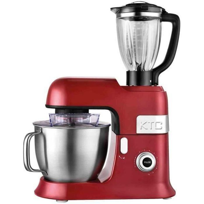 KITCHENCOOK EXPERT XL RED Robot Pétrin avec Blender - 6,5L - Rouge