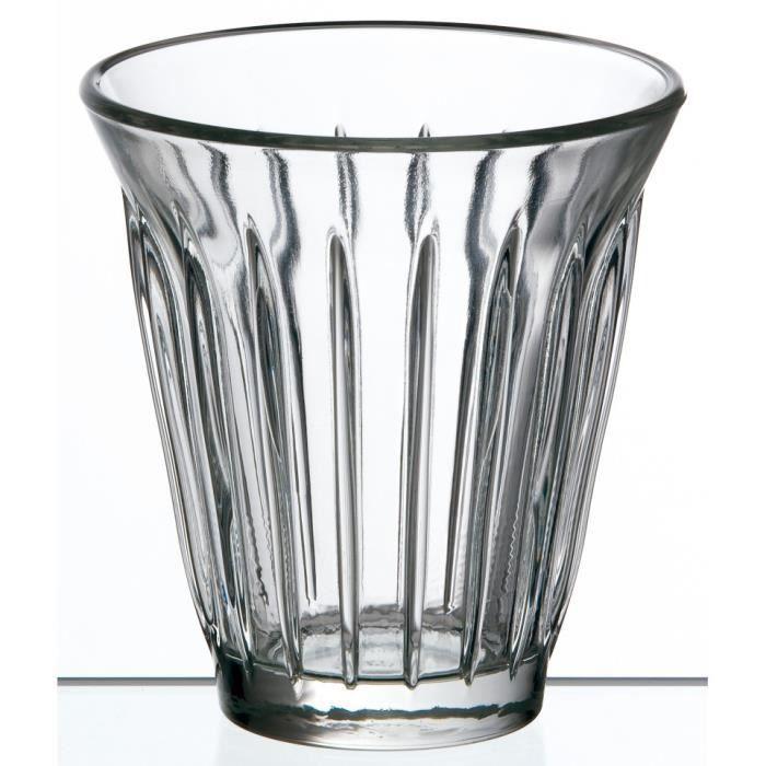 Mug Zinc La Rochère par 6 - 615001 - Verre pressé - Tasse - 20 cl