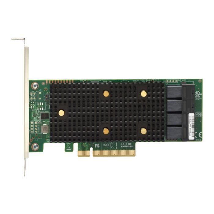 Lenovo Contrôleur de stockage Thinksystem 430 16i 16 Canal Sata / Sas 12Gb/S profil bas 12 Gbit / s Pcie 3.0 x8