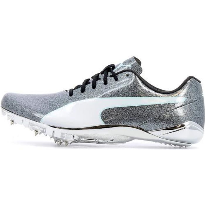 Chaussures à pointes d'athlétisme Puma EvoSpeed Electric 7 Women coloris Steel Gray - Fair Aqua - White