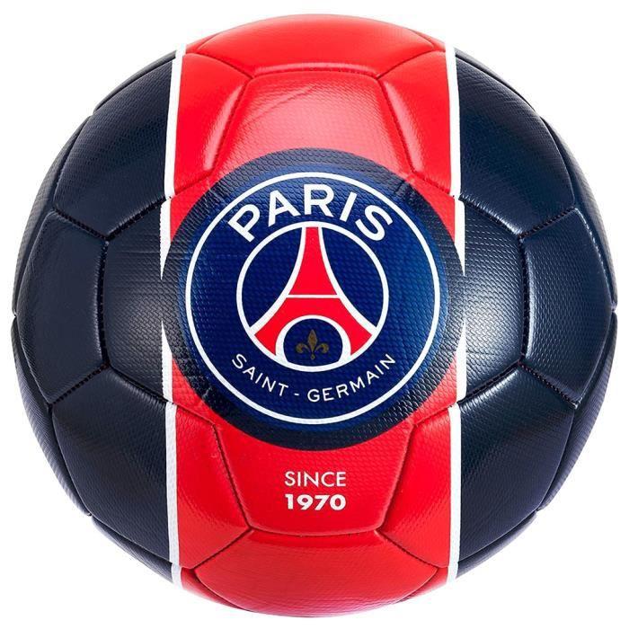 PSG - Mini-Ballon de Football Paris Saint-Germain Officiel - Bleu, Rouge