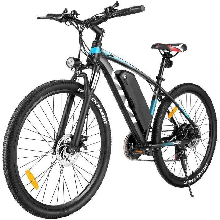 VIVI Vélo Électrique en Montagne- 26-27.5 Pouces VTT Électrique Homme Femme- 350W Velo Electrique- Amovible Batterie 36V-10.4Ah