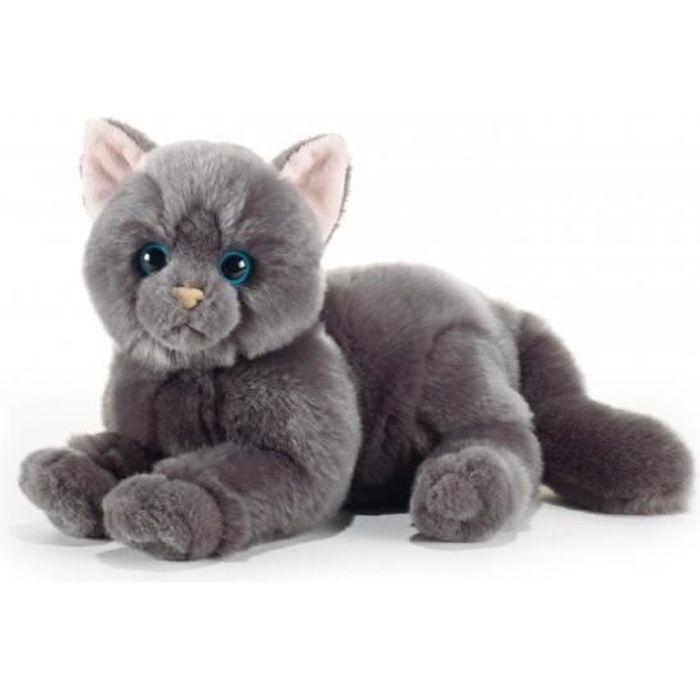 Peluche chat gris 32 cm - Plush & Company