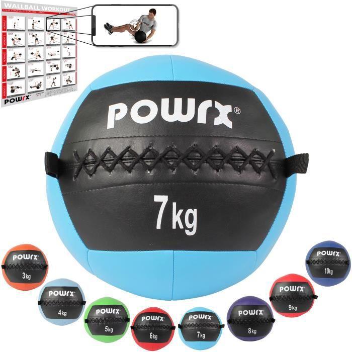 Wall Ball de 2-10 kg couleurs différentes Poids: 7 kg (cyan)