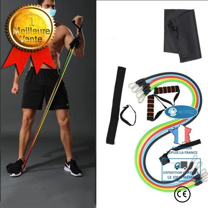 TD® 14 pièces bandes Resistantes d'exercice Sangle de Yoga Bande Elastique Pilates Extenseurs +Ensemble-cadeau