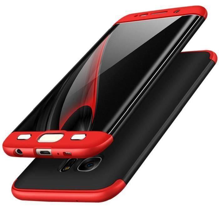 Étui Coque Samsung Galaxy S6 Edge, 3 en 1 Antichoc
