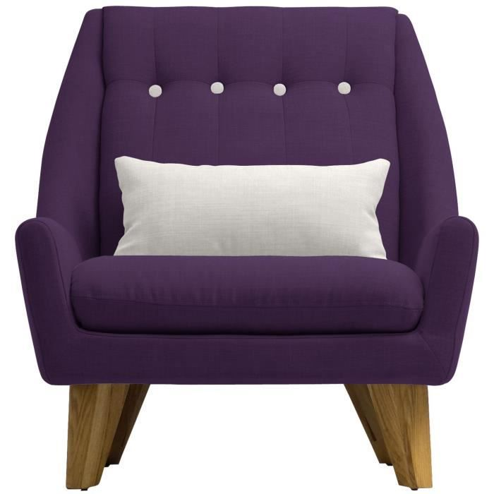 Fauteuil scandinave gipsy capitonn violet achat vente fauteuil violet - Fauteuil capitonne violet ...
