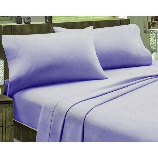housse de couette 220x240 cm flanelle couleur violet 2 taies d oreiller 63x63 cm fabrication. Black Bedroom Furniture Sets. Home Design Ideas