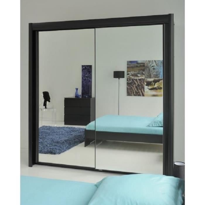 eden armoire de chambre 156 cm noir achat vente. Black Bedroom Furniture Sets. Home Design Ideas