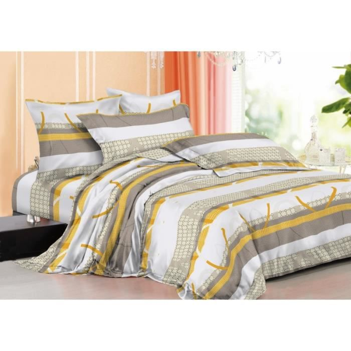 parure de draps 4 pieces microfibre achat vente parure de drap cdiscount. Black Bedroom Furniture Sets. Home Design Ideas
