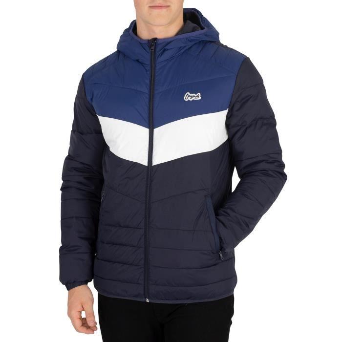 VESTE Jack & Jones Homme Bend Light Puffer Jacket, Bleu