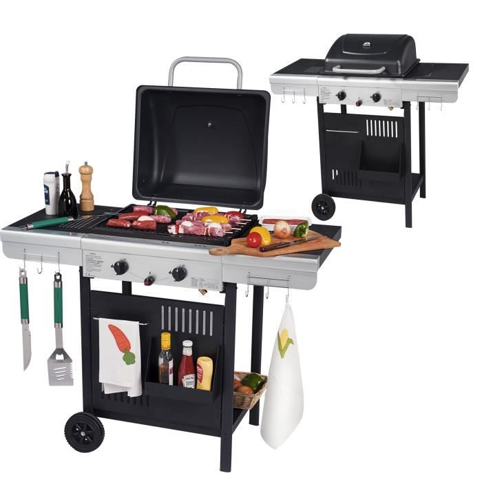barbecue gaz 3 feux et plancha achat vente barbecue barbecue gaz 3 feux et plan cdiscount. Black Bedroom Furniture Sets. Home Design Ideas