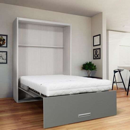 Lit armoire 2 places