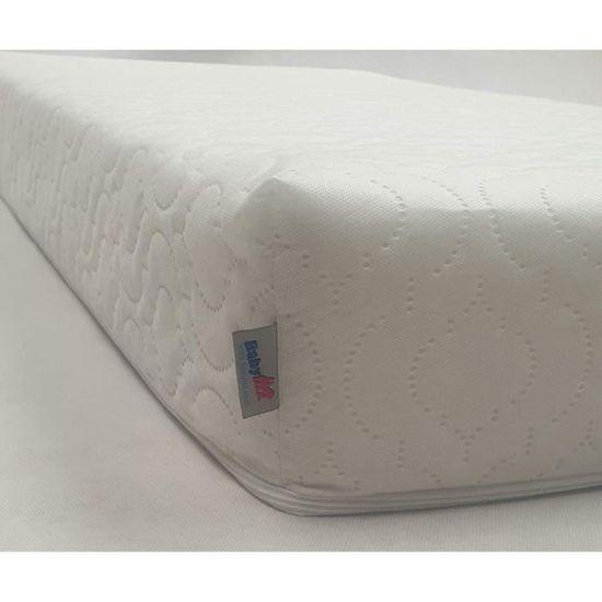 BabyLux Matelas pour berceau en fibre Uni 120 x 60 x 7,5 cm