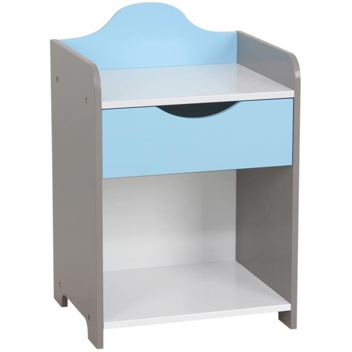 Table de chevet enfant en bois mod le scandinave bleu for Modele table de nuit