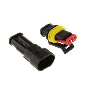 ELENXS 10 Kit 2 Pin Way /étanche Fil /électrique Connecteur Set Connection Automobile