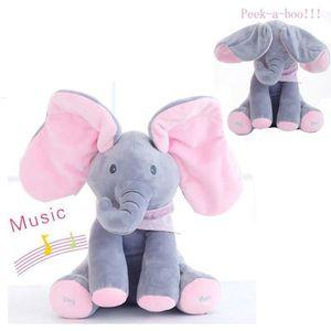 POUPON Peek-a-boo Éléphant Jouet de peluche bébé Cute Sin