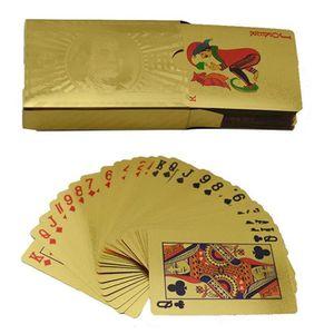 CARTES DE JEU yida-world® Poker Feuille D'or Poker 54 Cartes à J