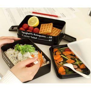 LUNCH BOX - BENTO  Portable à trois couches Rectangle Boîte à lunch é