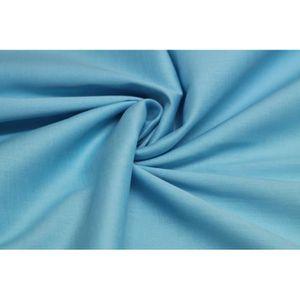 TISSU Tissu Popeline Coton/Elasthane Turquoise -Au Mètre