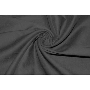TISSU Tissu Voile Uni 100% Coton Noir Coupon de 3 mètres