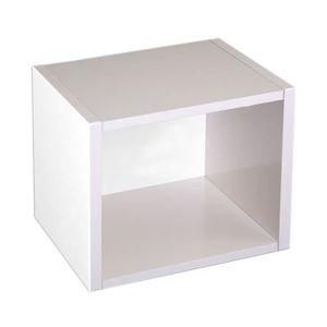 CASIER POUR MEUBLE Étagère cube M73, combinable, 34x29x40cm blanc
