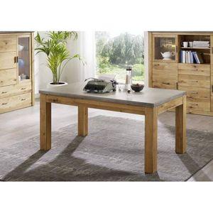TABLE À MANGER SEULE Table à manger 200x100cm - Bois de Chêne sauvage h